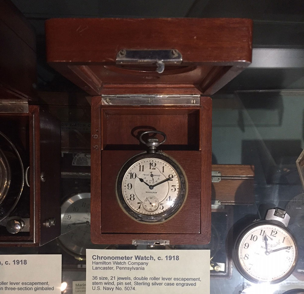 Chronometer Watch, c 1918. Hamilton Watch Company. Photo by Adam Harris. Courtesy of the National Watch & Clock Museum