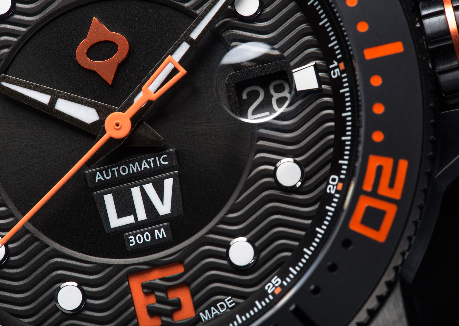 Image of the LIV GX DIVER. Photo courtesy of LIV Watches