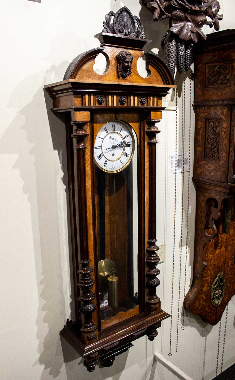 Late 19th-century Vienna regulator clock